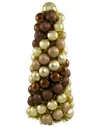 chocolate copper u0026 gold bauble table top tree 33cm christmas