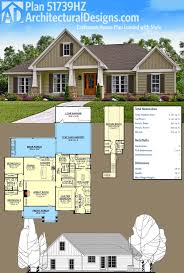how many square feet is a 1 car garage plan 51739hz craftsman house plan loaded with style