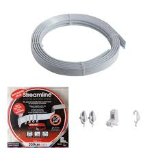 3 5m bendable curtain track for straight u0026 bay window rail top or