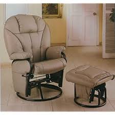 amazon com bone leatherette glider rocker recliner chair with
