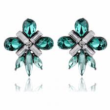 emerald green earrings emerald green starlet gems fashion stud earrings