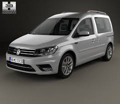 vw minivan 2015 volkswagen caddy highline 2015 3d model hum3d