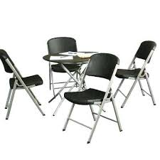 cosco 5 piece card table set black 5 piece folding table and chair set helikopter me