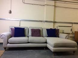 Purple Corner Sofas Laura Ashley Kingston Corner Sofa In Edwin Grey In Frenchay