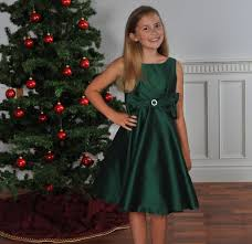 green holiday classic party dress girls special occasion holiday