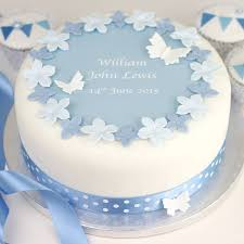 christening cakes personalised boys christening cake decorating kit by clever