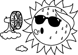 too summer sun coloring page wecoloringpage
