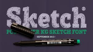 posterizer kg sketch font download youtube