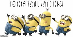 Congratulations Meme - minion happy dance daylight savings imgflip