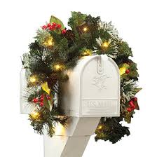 Mailbox Christmas Decorations by Front Door U0026 Mailbox Wreaths U0026 Door Decorations Miles Kimball