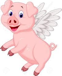 cute pig cartoon flying royalty free cliparts vectors stock