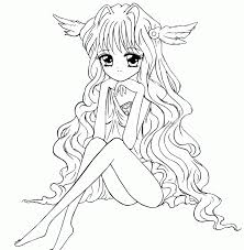 fairy outline coloring