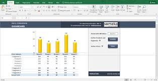 Product Pricing Price Comparison And Analysis Excel Template For Small Business
