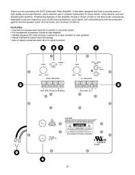 home theater subwoofer plate amplifier dayton audio sa70 70w subwoofer plate amplifier user manual page