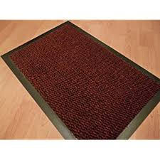 small red black door mat rubber backed runner barrier mats rug