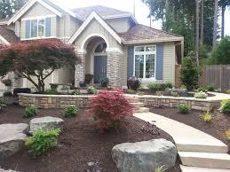 Backyard Ideas For Sloping Yards Yard Design Fabulous Practical Front Yard Design Ideas Design And
