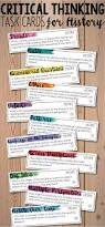 depth and complexity critical thinking task cards for history