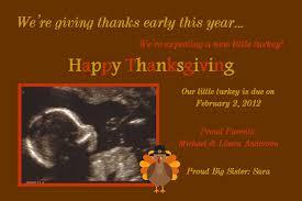 thanksgiving pregnancy announcement turkey one