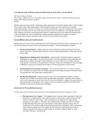 Military Resume Examples And Samples by Resume Stay At Home Mom Resume Template