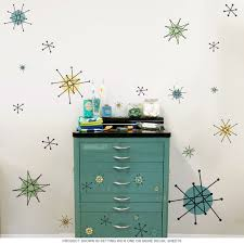 atomic starburst 50s style wall decals sheet large removable bizrate store ratings summary