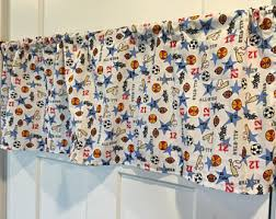 Soccer Curtains Valance Basketball Valance Etsy