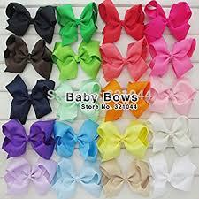 big hair bows 20pcs lot 6 inch big ribbon hairbows for hair