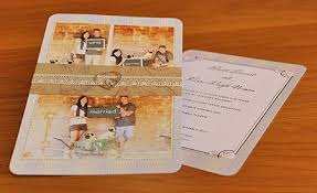 wedding invitations gauteng personalised wedding invitations rectangle potrait ivory with