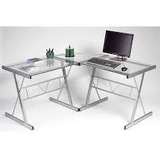 bureau verre et metal bureau verre trempe