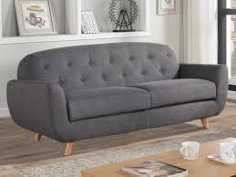 canapé 3 places tissu gris canapé 3 places en tissu bleu ou gris chiné roland