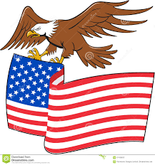 Us Flag Stripes Number American Bald Eagle Carrying Usa Flag Cartoon Stock Vector Image