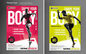 fitness flyer template 60 time saving print templates for adobe indesign photoshop