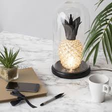 Outdoor Pineapple Lights Glass Pineapple Bell Jar Table Lamp Glass From Litecraft
