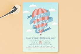balloon adventure baby shower invitations by karid minted