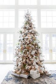 flocked christmas tree christmas archives hello