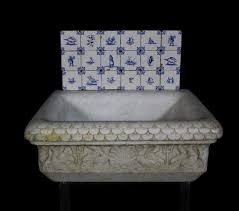 Salvage Bathroom Vanity by 19th Century Italian Carved Marble Basin Sink Uk Architectural