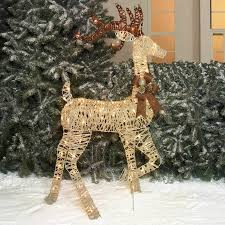 Grapevine Christmas Reindeer Decorations by Holiday Time Christmas Decor 52
