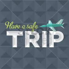 Safe travel message design vector image 1419464 stockunlimited