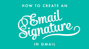 Free Email Signature Templates by How To Create An Email Signature In Gmail Youtube