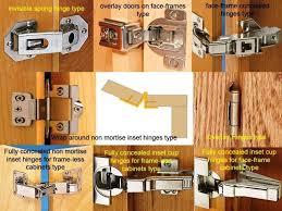 Concealed Hinges Cabinet Doors Cabinet Door Hinges Types Decor Homes Cabinet Hinge Types