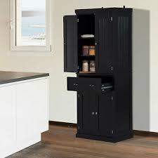 homcom kitchen pantry cupboard wooden storage cabinet organizer shelf white homcom kitchen storage cabinet wooden cupboard organizer home furniture