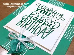 a formula birthday card simple stampin