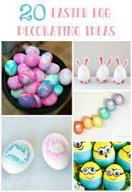 Easter Egg Decorating Idea by 20 Easter Egg Decorating Ideas Cutesy Crafts