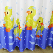 Eyelet Shower Curtains White Cartoon Duck Shower Curtains For Kids Blue And White Buytra Com