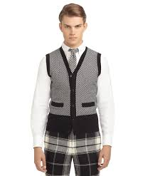 black sweater vest check button front sweater vest brothers