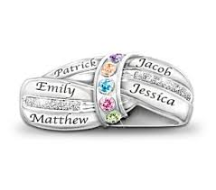 mothers day rings with birthstones our family is united by diamond ring with names birthday