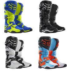 fox dirt bike boots fox racing mens all sizes u0026 colors comp 8 dirt bike boots mx atv