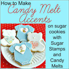 sugar dot cookies tutorial how to add candy melt accents to