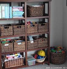 organized family room home tour toys clean mama
