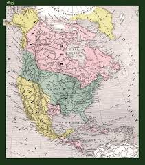 North America Map 1700 by North America North America Historical Map 1845