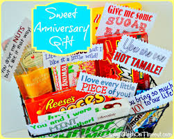 anniversary gift basket sixth wedding anniversary gifts candy or iron wood and others